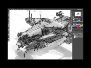 Ryan Dening Dropship Concept Art Tutorial - Part 1: Thumbnails
